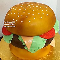 Carved out dressed hamburger _1