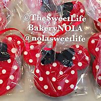 Mini mouse polka dot with bow cookies bagged_1