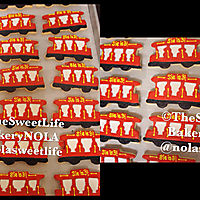 Trolley train decorated sugar cookies _1